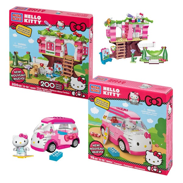 Mega Bloks Hello Kitty Treehouse and Camper Play Combo