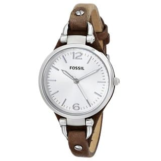 Fossil Women's ES3060 Georgia Three Hand Slim Leather Watch|https://ak1.ostkcdn.com/images/products/9160755/P16339133.jpg?impolicy=medium