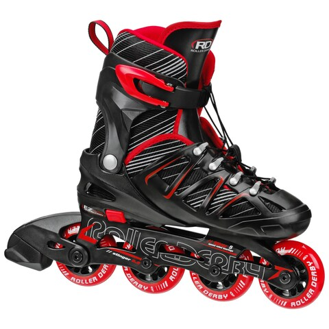 Stinger Boy's 5.2 Black/Red Adjustable Inline Skates