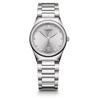 Victorinox Swiss Army Women's Military Victoria Silver Dial Stainless Steel Watch