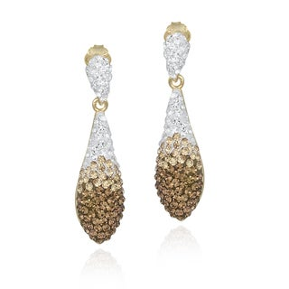 Crystal Ice Goldtone and Crystal Drop Earrings with Swarovski Elements