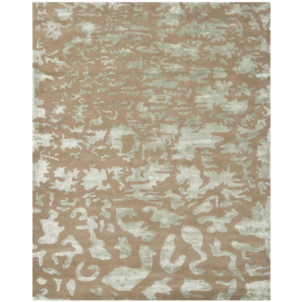 Stella Collection Hand Tufted Area Rug In Beige Light: Safavieh Hand-Tufted Soho Taupe/ Light Grey Wool Rug