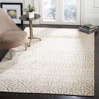 Safavieh Hand-Knotted Stone Wash Silver Wool/ Cotton Rug - 4' x 6'