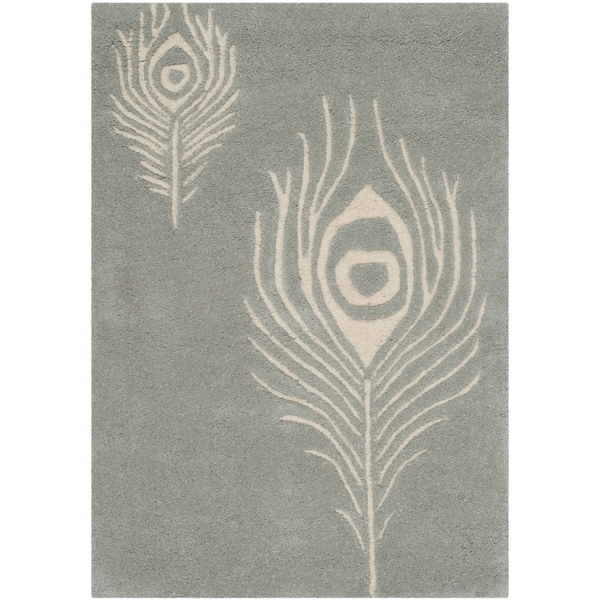 Safavieh Hand-Tufted Soho Grey/ Ivory Wool/ Viscose Rug - 2'6 x 4'