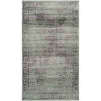 Safavieh Vintage Amethyst Distressed Panels Silky Viscose Rug (2'7 x 4') - 2'7 x 4'