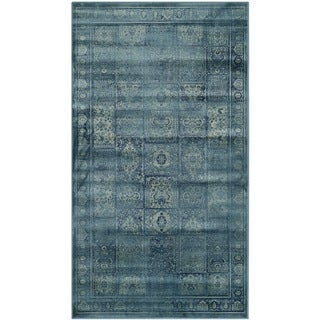 Safavieh Vintage Turquoise/ Multi Distressed Panels Silky Viscose Rug (2'7 x 4')