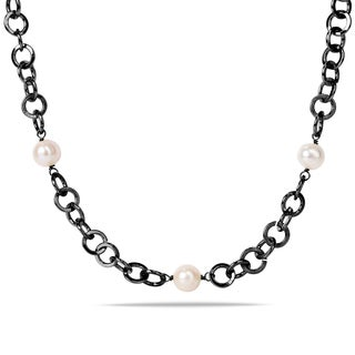 Miadora White Pearl Endless Necklace (10-11 mm)