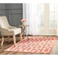 Safavieh Hand-Knotted Stone Wash Rust Wool/ Cotton Rug - 4' x 6'