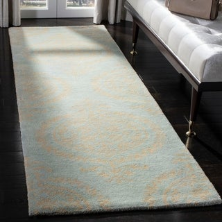 Safavieh Hand-Tufted Soho Blue/ Beige Wool/ Viscose Rug (2' x 3')