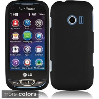 INSTEN Rubberized Hard Plastic Snap-on Cover Phone Case Cover for LG Extravert 2 VN280
