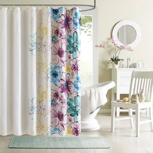 The Curated Nomad Lyon Floral Shower Curtain