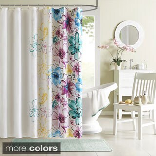 Floral Shower Curtains - Overstock.com - Vibrant Fabric Bath Curtains