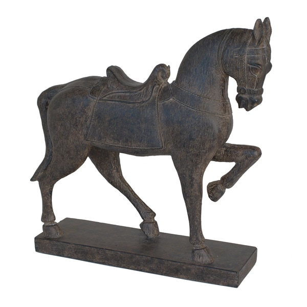 Attractive Brown Resin Horse Figurine, Dark Brown