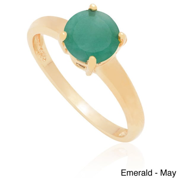 Dolce Giavonna Gold Over Silver Gemstone Birthstone Ring