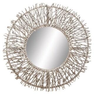 Metal Wood Mirror
