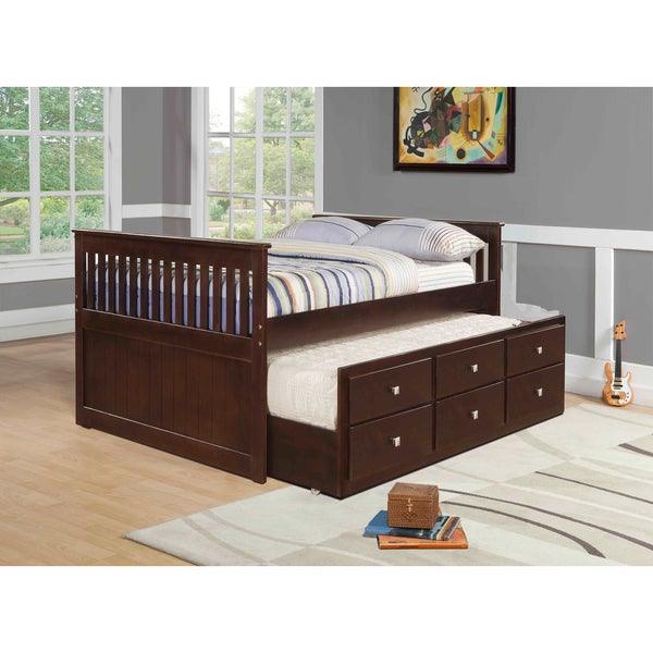Shop Donco Kids Mission Captains Full Bed With Trundle