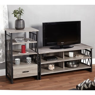 Simple Living Seneca 2-piece 48-inch TV Stand with Pier Set