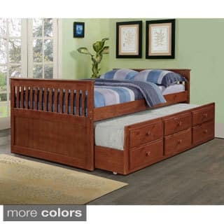 Donco Kids Mission Captains Full Bed with Twin Trundle|https://ak1.ostkcdn.com/images/products/9161267/Donco-Kids-Mission-Honey-Captains-Trundle-Full-size-Bed-P16339727.jpg?impolicy=medium