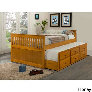 Donco Kids Mission Captains Full Bed with Twin Trundle
