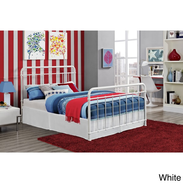 Dhp brooklyn iron full bed frame free shipping today for Brooklyn bedding sale
