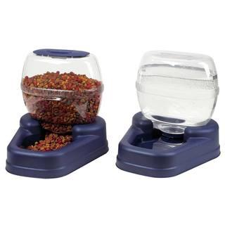 Bergan Petite Gourmet Plastic Pet Dish Combo Pack