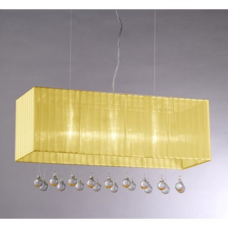 Orange Cell Crystal Chandelier
