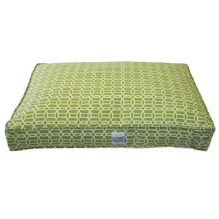 Mosaic Green Small Pet Bed