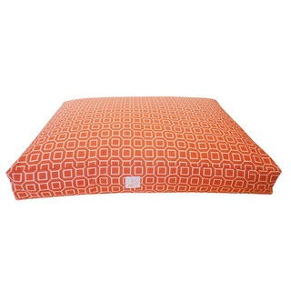 Hexagon Orange Small Pet Bed