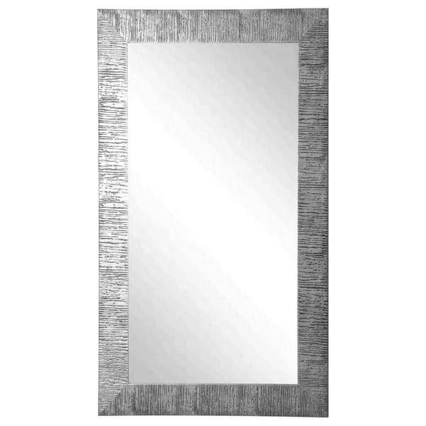 American Made Rayne Silver City Floor/ Vanity Mirror - silver/black