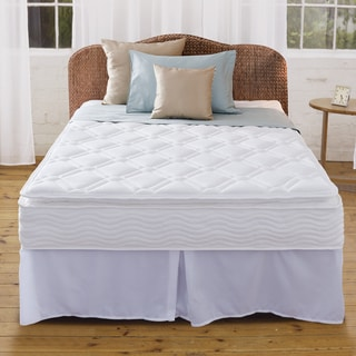Priage 10-inch Pillow Top Full-size iCoil Spring Mattress and Steel Foundation Set