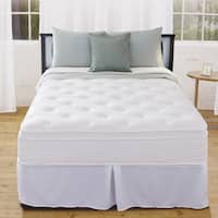 Priage 12-inch Euro Box Top Twin iCoil Mattress and Foundation Set