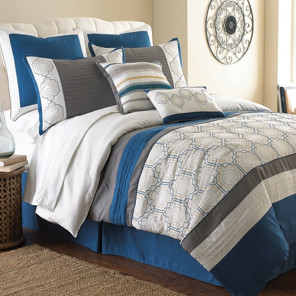 Amraupur Overseas Lydia Embroidered 8-piece Comforter Set