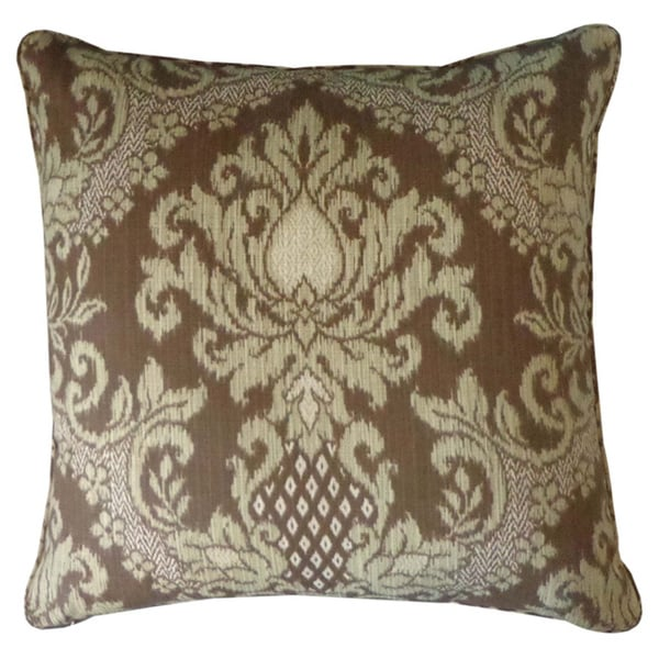 Shop Handmade Ikat Brown Outdoor Throw Pillow United States Free