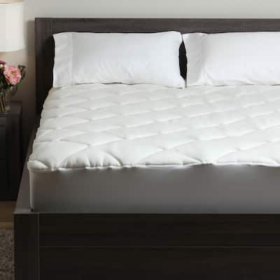 Spa Luxe Extra Plush Rayon from Bamboo Blend Mattress Pad - White