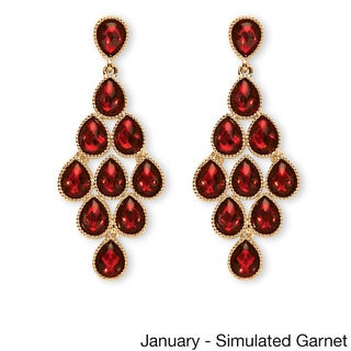 Link to Yellow Gold Birthstone Chandelier Earrings Similar Items in Birthstone Jewelry