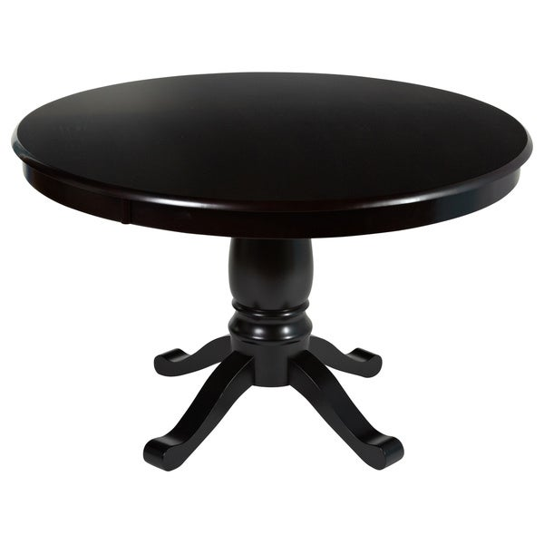 simple living alexa round pedestal dining table free shipping today
