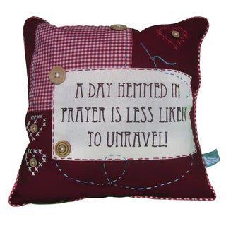 Handmade 'A Day Hemmed In Prayer' Pillow Cover (India)