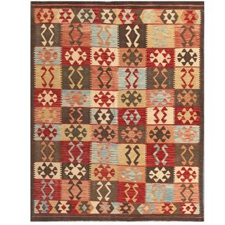 Herat Oriental Afghan Hand-woven Tribal Wool Kilim (5' x 6'7)