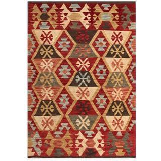 Herat Oriental Afghan Hand-woven Tribal Wool Kilim (4' x 5'11)