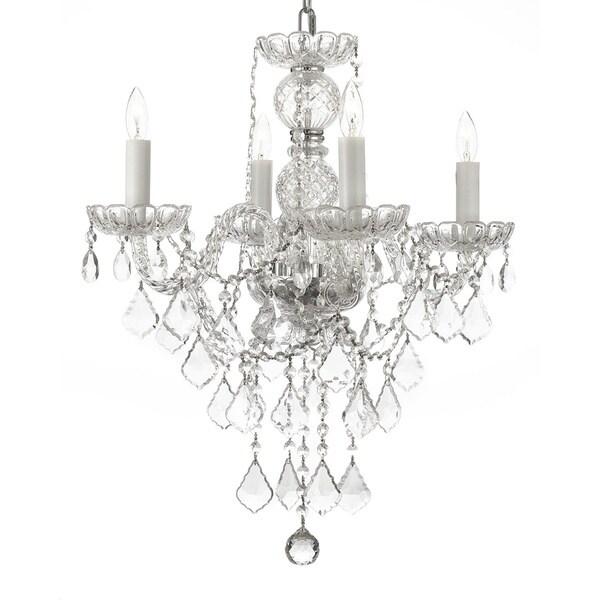 Gallery Venetian Style All Crystal 4-light Chandelier