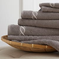 Amraupur Overseas Egyptian Cotton Embroidered Chain 6-piece Towel Set