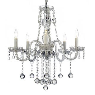 Gallery Venetian Style All Crystal 5-light Chandelier with Crystal Balls