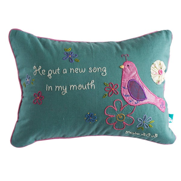 Handmade Inspirational 'Song' Pillow Cover (India)