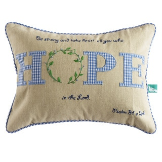 Handmade Inspirational 'Hope' Pillow Cover (India)