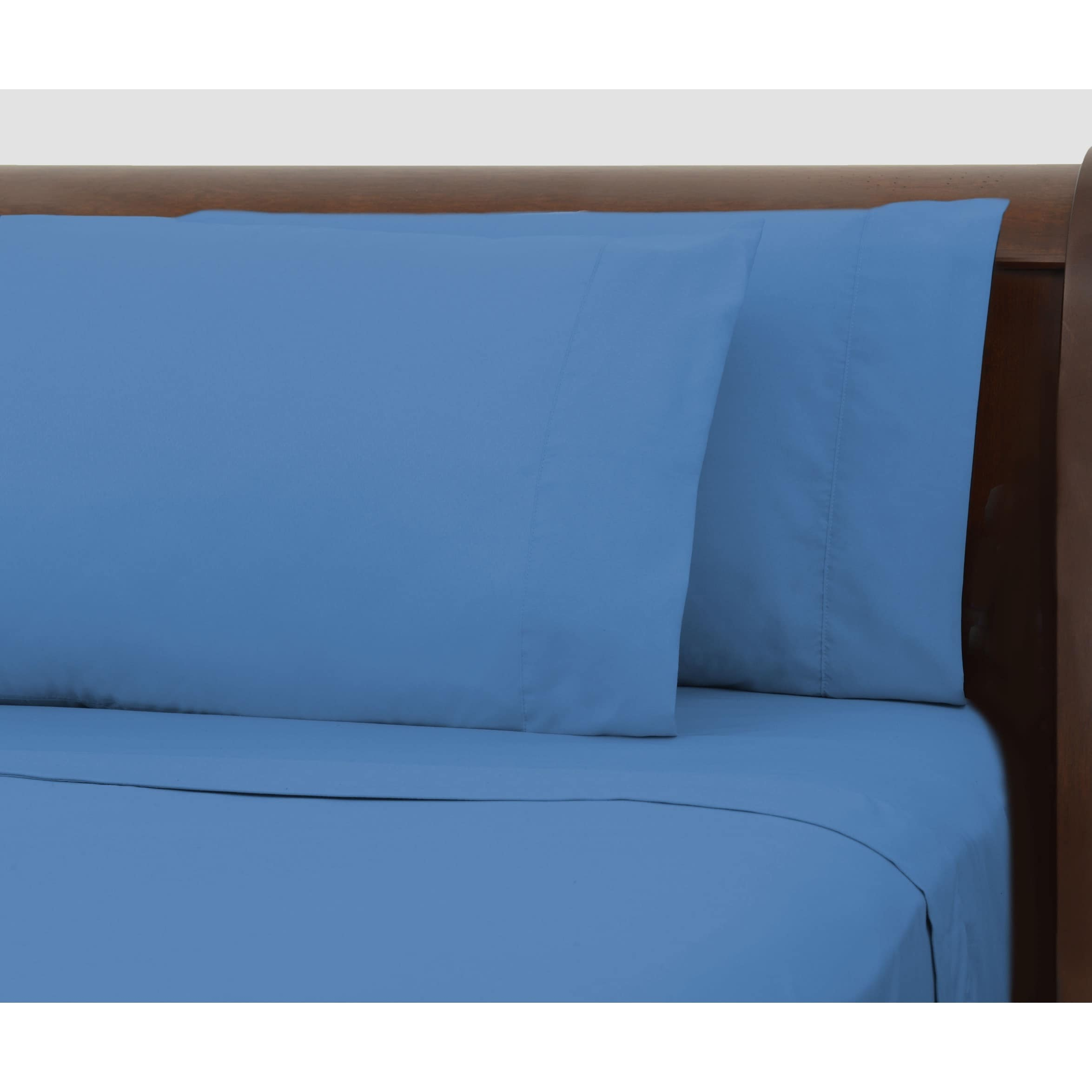 Bright Ideas Blue Wrinkle Resistant Sheet Set Overstock 9164706