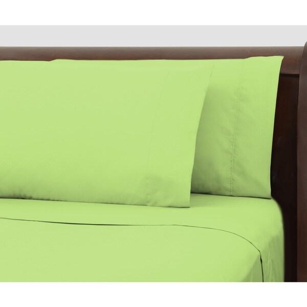 Bright Ideas Lime Wrinkle-resistant Sheet Set