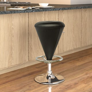 CorLiving Cone Shaped Adjustable Barstool in Leatherette