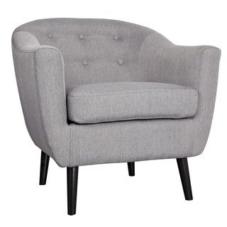Nora Mid Century Fabric Accent Chair