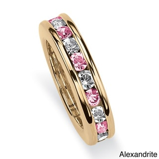 14k Gold-Plated Birthstone Crystal Baby Ring Charm