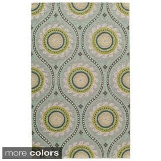 Uzbek Essence Grey Hand-Hooked Wool Indoor Rug (8' x 10')